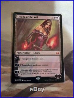 1x Liliana of the Veil MM17 LIGHT INKING Misprint MTG RARE Free Shipping