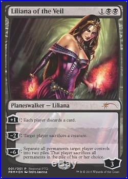 (1x) Liliana of the Veil PTQ Promo (x1)NM-Mint, English Unique & Misc Promos