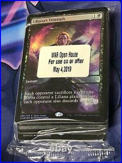 2019 MTG War Of The Spark Open House Sealed Promo Pack Lilianas Triumph X35