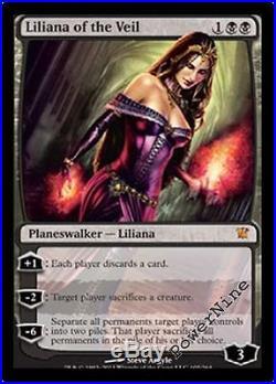 4 FOIL Liliana of the Veil AUCTION Innistrad Mtg Magic Black Mythic Rare 4x x4