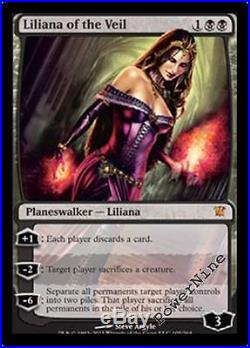 4 FOIL Liliana of the Veil Innistrad MtG Magic Black Mythic Rare 4x x4