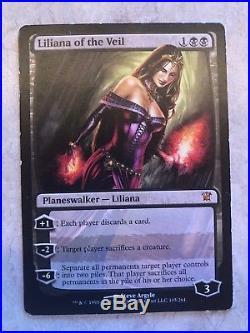 4x Liliana of the Veil Innistrad MTG LP (Full Play Set)