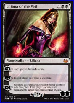 4x Liliana of the Veil MM17 NM MTG Magic the Gathering