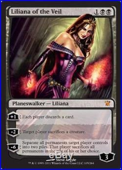 4x MTG Innistrad Liliana of the Veil, NM-Mint, English