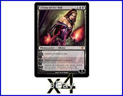 4x MTG Liliana of the Veil (Innistrad) NM Near Mint, Free shipping