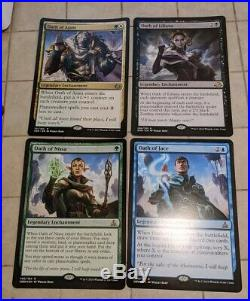 4x Oath of Ajani Nissa Jace Liliana Oversized Store Display Card MtG Magic Lot