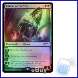 FOIL LILIANA OF THE VEIL (RPTQ) Promo Planeswalker Magic MTG MINT CARD