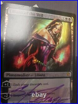 FOIL Liliana of the Veil Innistrad signed LP