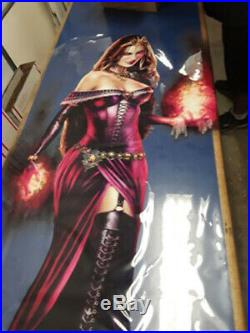 LILIANA OF THE VEIL MAGIC WINDOWithDOOR CLING 58X36 MINT PROMO STEVE ARGYLE ART