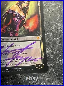 Liliana Of The Veil X1 Mtg Innistrad Foil Signed Nm/Vlp