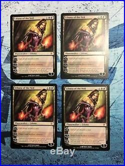 Liliana Of The Veil X4 NM-VLP Innistrad Magic The Gathering