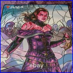 Liliana PAX WEST Dreadful General, Liliana Stained Glass Playmat mtg