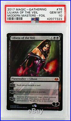 Liliana of the Veil FOIL 2017 Modern Masters PSA 10 (POP 1)