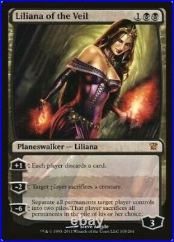 Liliana of the Veil FOIL Innistrad 105/264 LP MTG Magic the Gathering