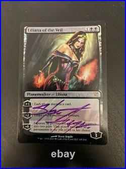 Liliana of the Veil FOIL Innistrad LP Signed