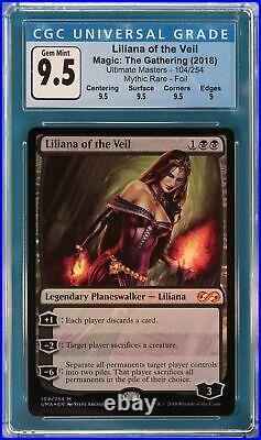 Liliana of the Veil FOIL Ultimate Masters GRADED CGC 9.5 GEM MINT (3789604045)