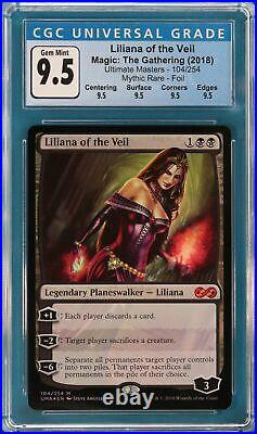 Liliana of the Veil FOIL Ultimate Masters GRADED CGC 9.5 GEM MINT (3789604046)