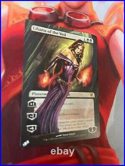 Liliana of the Veil Innistrad Altered MTG Magic the Gathering Custom Painted