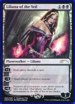 Liliana of the Veil Regional PTQ Promo Light Play MTG Promo Magic