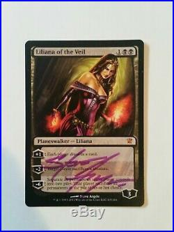 Liliana of the Veil SIGNED x4 Innistrad MTG LP