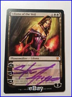 Liliana of the Veil SIGNED x4 Innistrad MTG LP magic Steve Argyle