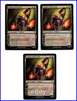 Liliana of the Veil x3 Innistrad MTG Magic the Gathering English Played Scans