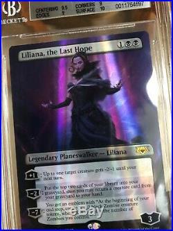 Liliana, the Last Hope Mythic Edition Foil BGS MINT! +Emblem MTG