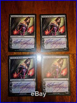 MTG 4X Signed Liliana Of The Veil Innistrad Magic The Gathering