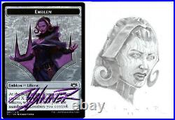 MTG Artist Proof Liliana Emblem Sketched