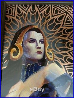 MTG Hand Painted Liliana on Copper Plate! Art by Alter Artist JH MTG-Art