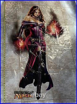 MTG LILIANA OF THE VEIL WINDOW CLING / DOOR DECAL 55x35 magic store FNM promo