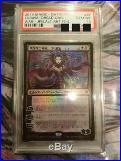 MTG Liliana, Dreadhorde General japanese art Foil PSA 10 Hiroyuki Amano New