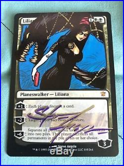 MTG Liliana of the Veil Altered and Signed Bayonetta