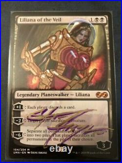 MTG Liliana of the Veil Altered and Signed by Steve Argyle (NM)