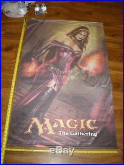 MTG Magic Innistrad Liliana of the Veil Cloth Poster Hanging Store Display