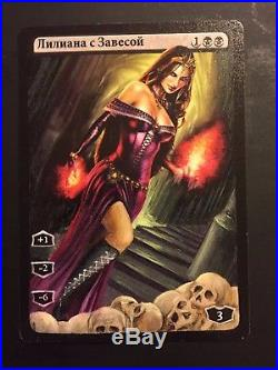 MTG Russian 1x Liliana of the Veil Altered