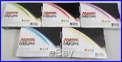 Magic Origins Prerelease Kits x5 Jace Liliana Nissa Chandra MTG Booster Pack Box