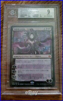 Magic The Gathering Liliana, Dreadhorde General BGS 9.0 Japanese Amano MTG WAR