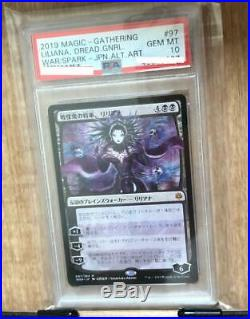 Magic the gathering PSA10 card Liliana, a warlord's general Evaluated non-foil