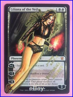 Mtg Altered Art Hand Painted Liliana Of The Veil Victoria's Secret By Sitong