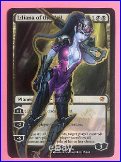 Mtg Altered Art Hand Painted Liliana Of The Veil Widowmaker By Sitong
