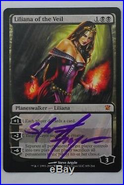 Mtg Foil innistrad Liliana of the Veil autographed