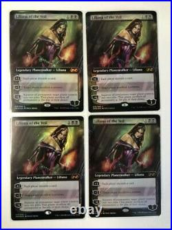 Playset MTG Liliana Of The Veil Box Topper Foil Ultimate Masters NM x4