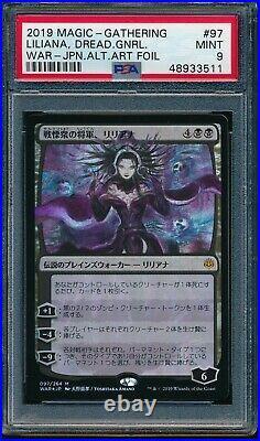 Psa 9 Mint Liliana Foil Dreadhorde General Mtg Magic Japanese Alt Art Amano Rare