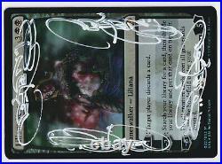 Quadruple White Signed FOIL Liliana Vess LP/MP Artist Terese Nielsen MTG Magic