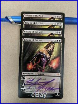 X4 Liliana of the Veil Mtg One Signed By Artist